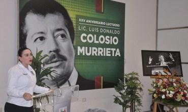 Recuerdan priistas a Luis Donaldo Colosio en el 25 aniversario luctuoso
