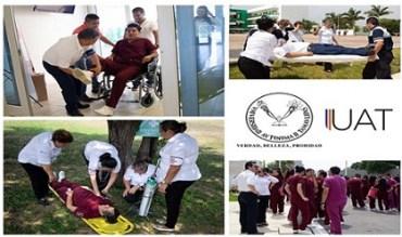 Realizan simulacro de incendio en la Facultad de Enfermería Victoria