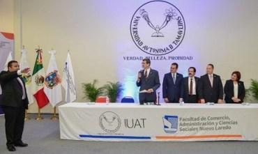 Asume René Salinas dirección de la Facultad de Comercio-UAT Nuevo Laredo