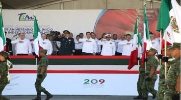 Refrenda Gobierno de Tamaulipas respeto y solidaridad a Fuerzas Armadas.