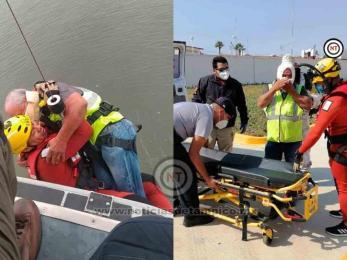 Semar apoya a pescador herido en altamar en BC