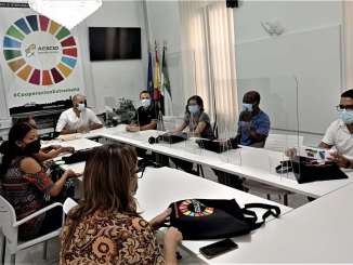 El-director-de-la-AEXCID-se-reune-con-defensores-colombianos-de-los-derechos-humanos