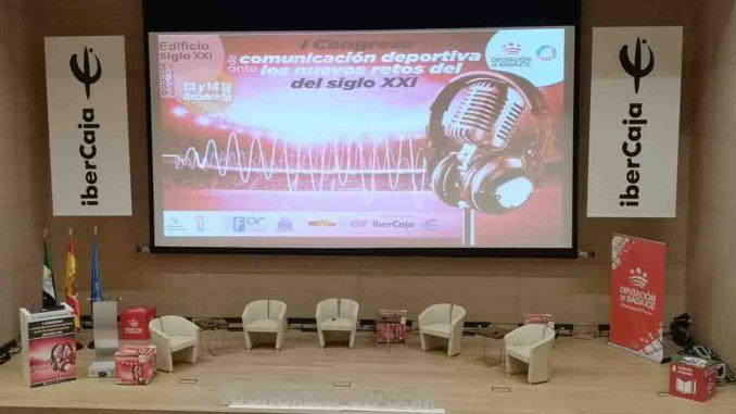 Escenario Congreso Comunicación Deportiva Badajoz 2021