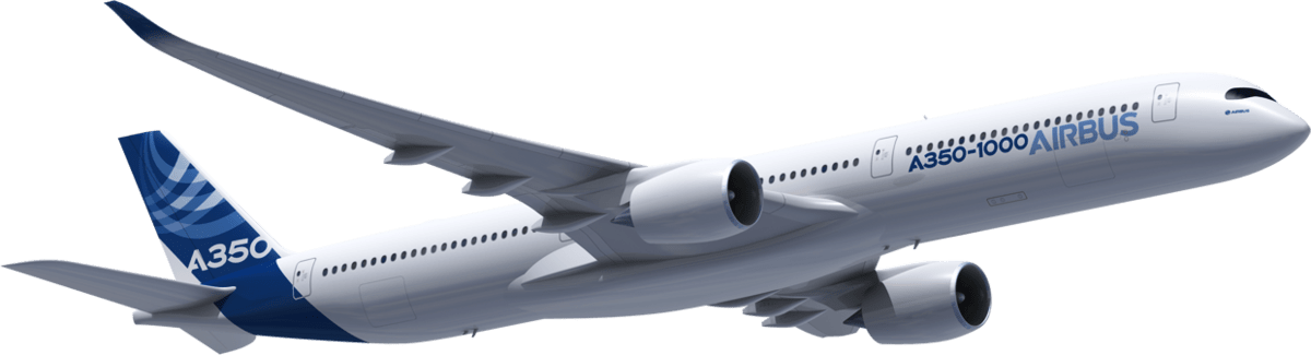Image result for Airbus A350-1000 png