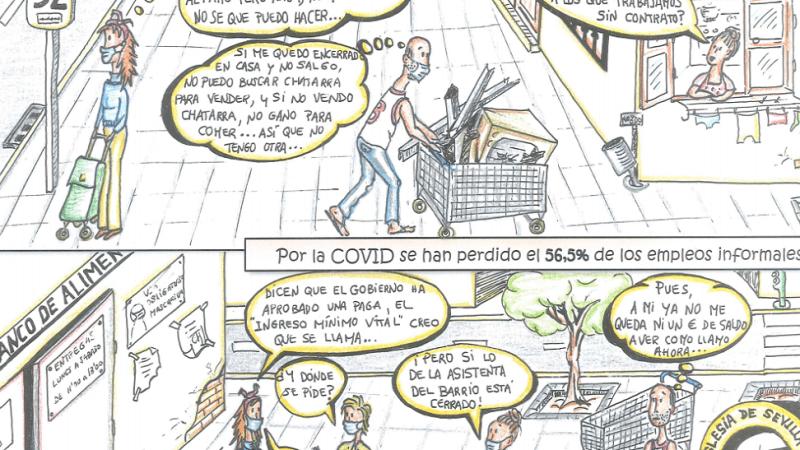 Un cómic reflexiona sobre el paro y el trabajo precario