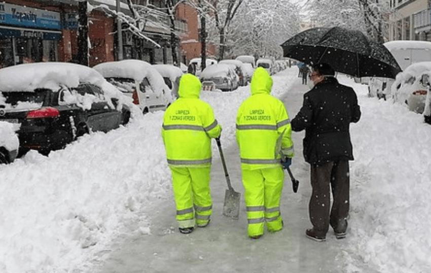 Las empresas, responsables de prevenir los riesgos laborales de la ola de frío