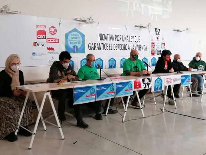 50 organizaciones impulsan una campaña para que el Gobierno garantice el derecho a la vivienda