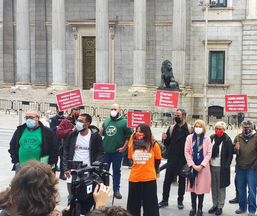 """Movimientos sociales, sindicales y cristianos exigen """"agilidad y transparencia"""" en la ley de vivienda"""
