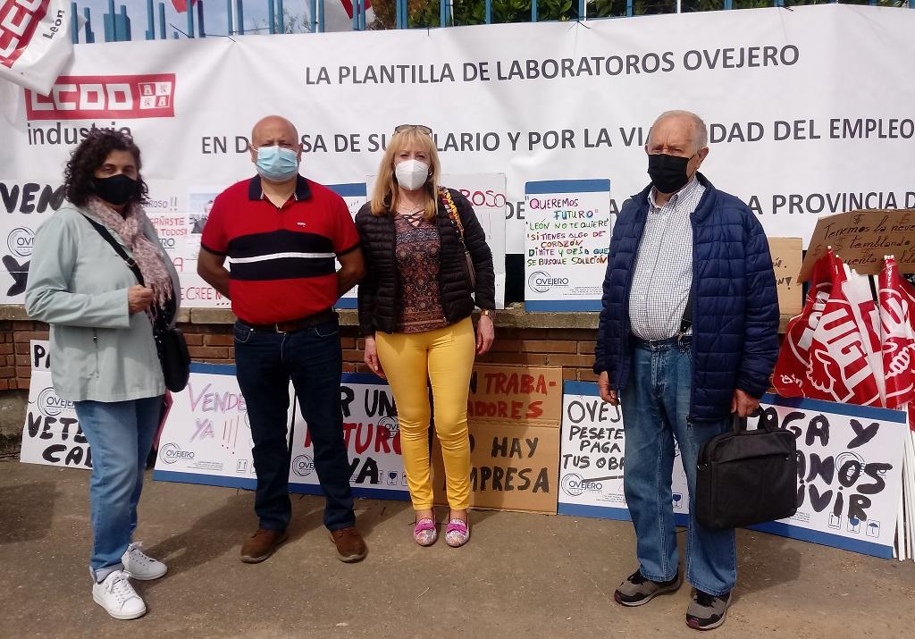 Trabajadores cristianos de León se solidarizan con la plantilla de Laboratorios Ovejero