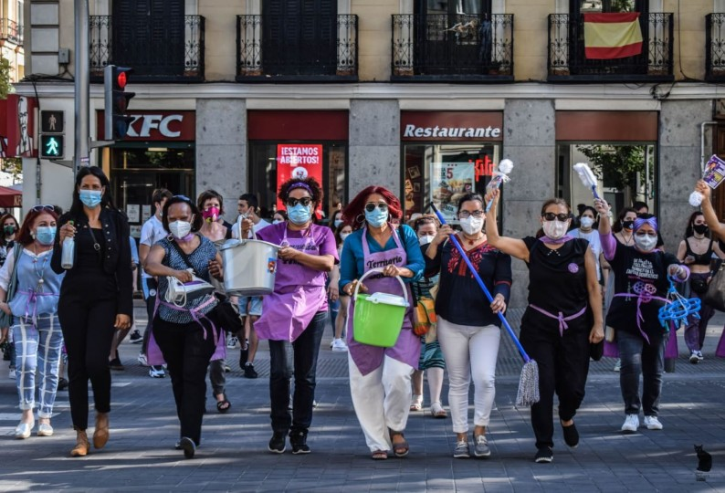 La asamblea interterritorial de trabajadoras de hogar demanda al Gobierno que ratifique el Convenio 189