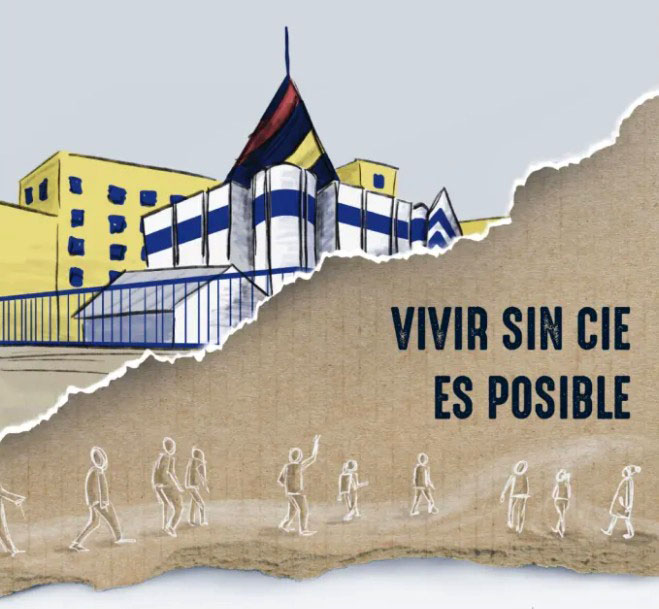 Vigilia solidaria ante el CIE de Madrid