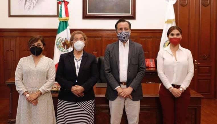 Se reúnen Magistrada Presidenta del PJEV y el Gobernador de Veracruz