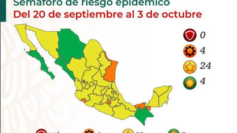 Veracruz, en Color Amarillo del Semáforo Epidemiológico