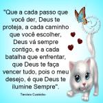 Que a cada passo que você der, Deus te proteja…