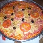Pizza crocante de liquidificador