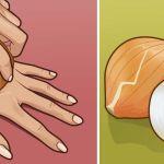 Esfregue uma cebola crua na parte de trás da sua mão e veja o efeito incrível!