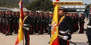406 plazas opositar Ministerio de Defensa