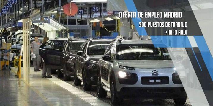 oferta de trabajo PSA Citroen Peugeot