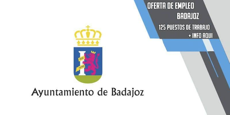 oferta pública de empleo ayuntamiento de Badajoz