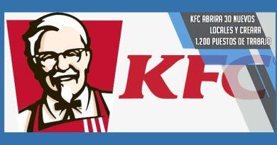 KFC creara 1.200 puestos de trabajo en 30 nuevos locales