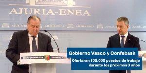 Gobierno Vasco y Confebask oferta de empleo