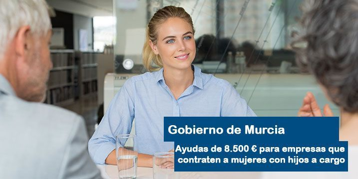 Murcia dara ayudas a empresas que contraten mujeres con hijos a cargo