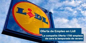 Oferta de Empleo Lidl para este verano