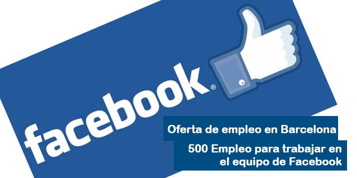 Oferta de empleo en Facebook