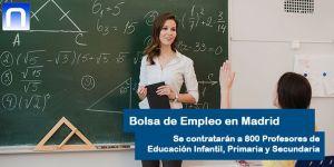 Oferta de Empleo para profesores en Madrid