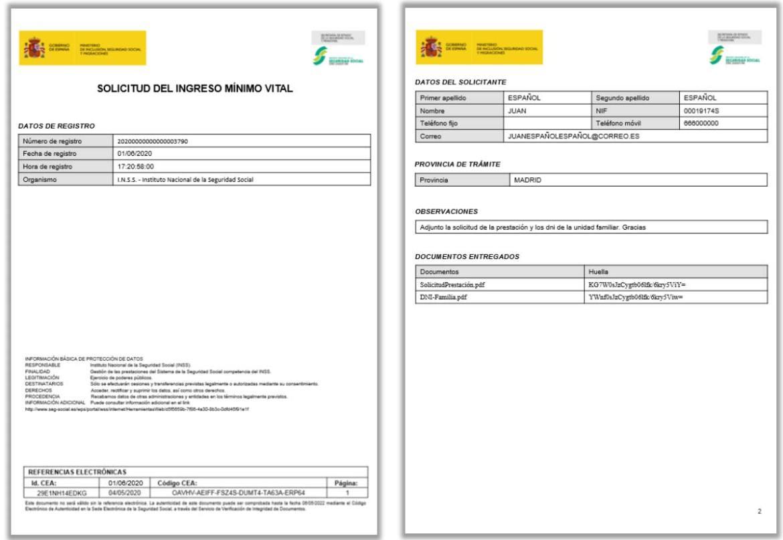 papeles solicitud Ingreso Minimo Vital