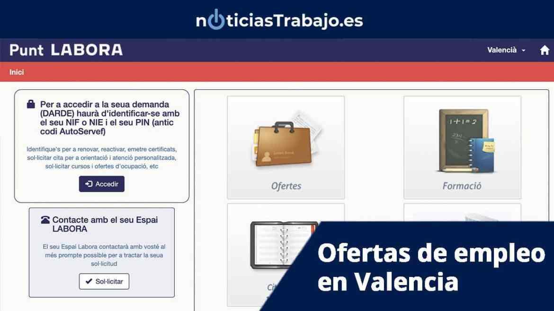 Ofertas de empleo en Valencia