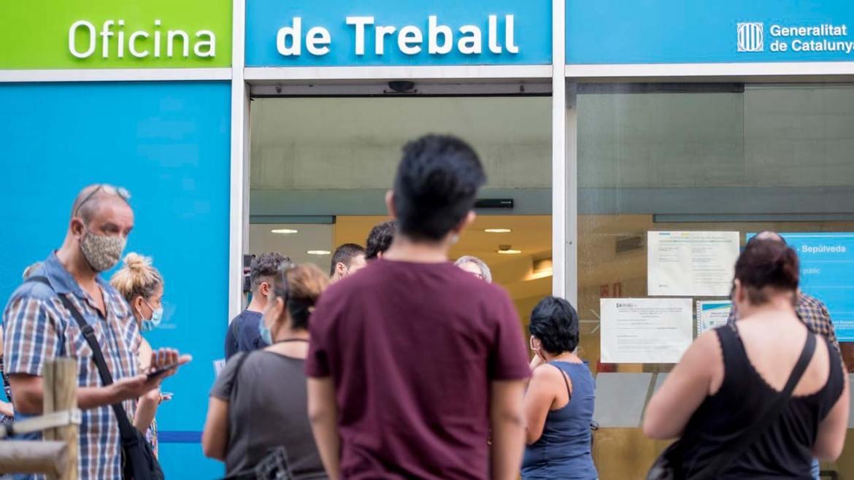 El SEPE no paga la prestacion por desempleo a los nuevos parados en Barcelona
