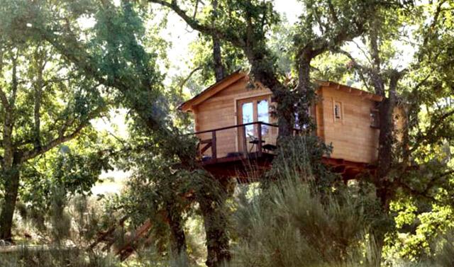 Cabañas en los árboles en Cáceres