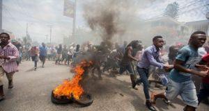 Haiti-protesta
