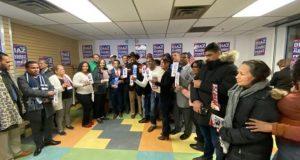 Dominicanos distrito 15 apoyan reverendo Díaz para el congreso EE.UU