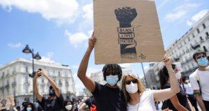 protesta en españa por la muerte de George Floyd