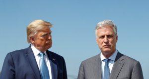 Donald Trump y Robert O'Brien