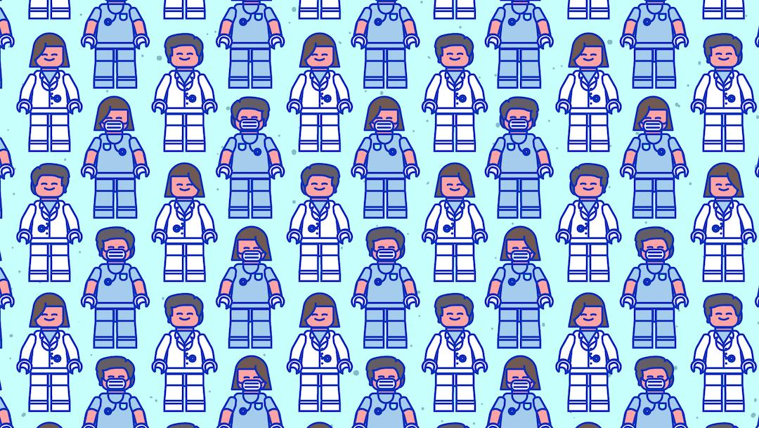 Reto visual: Busca cuatro médicos sin estetoscopio