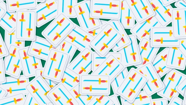 Reto visual: encuentra las cuatro cartas con tres espadas