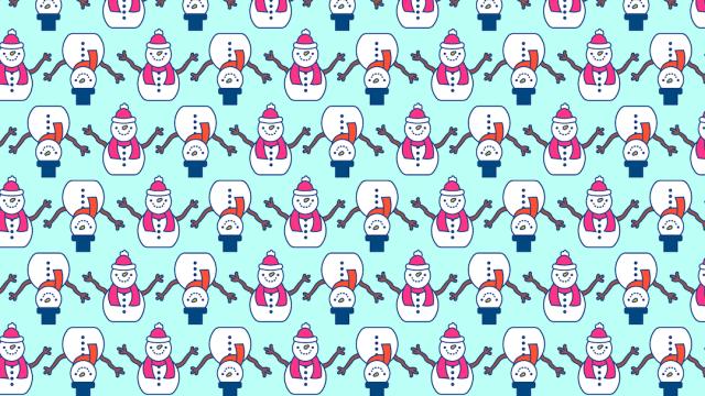 Reto visual: Busca tres muñecos de nieve sin ojos