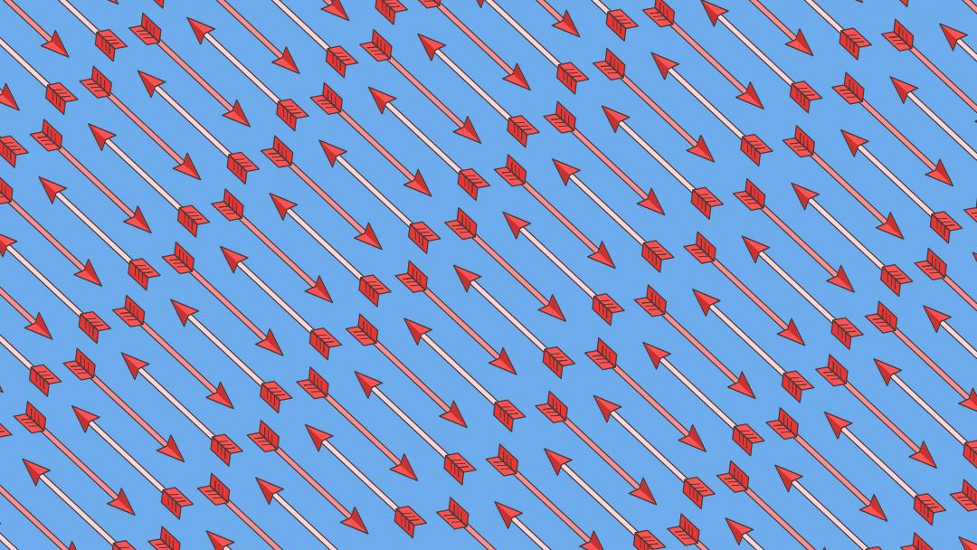 Reto visual: Encuentra las flechas con punta de corazón