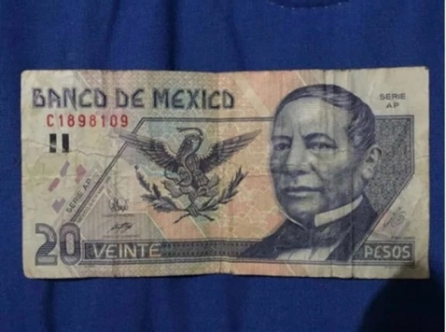 Billete de 20 pesos se vende en 70 mil