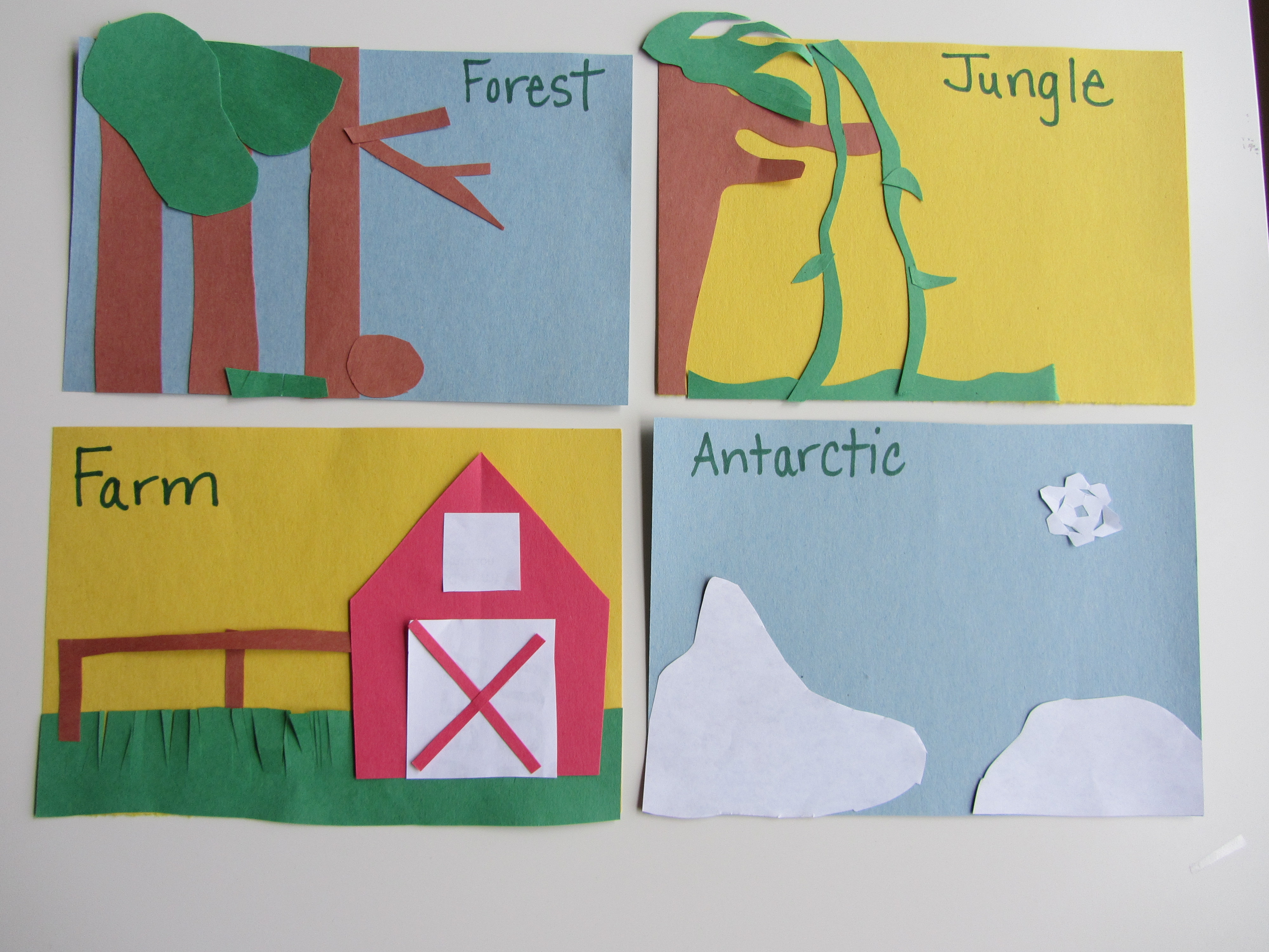 Animal Habitats Activity Worksheet