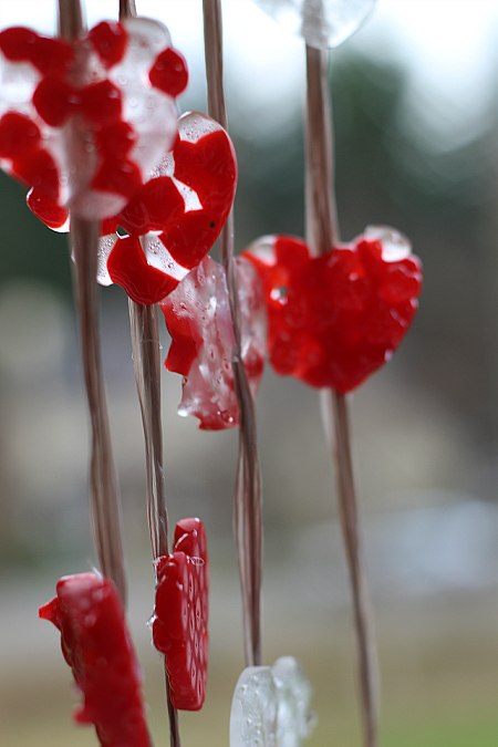Melted Bead Craft Valentines Day Wind Chimes No Time