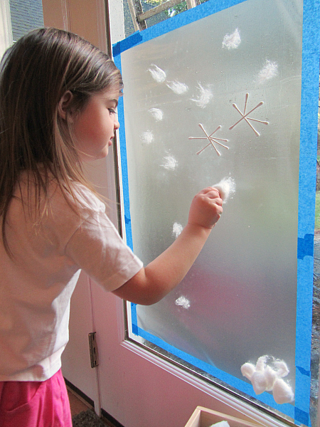 snow mural for preschool