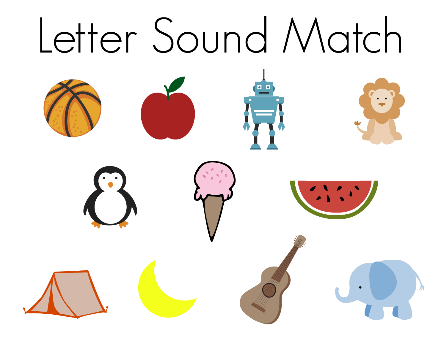 Letter Sound Match Magnetic Letters Activities