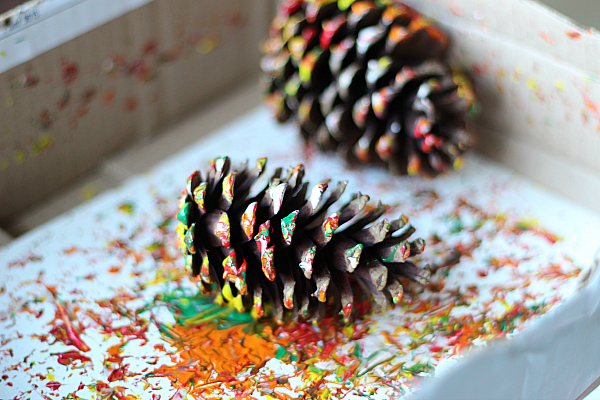 Pinecone Painting Process Art No Time For Flash Cards