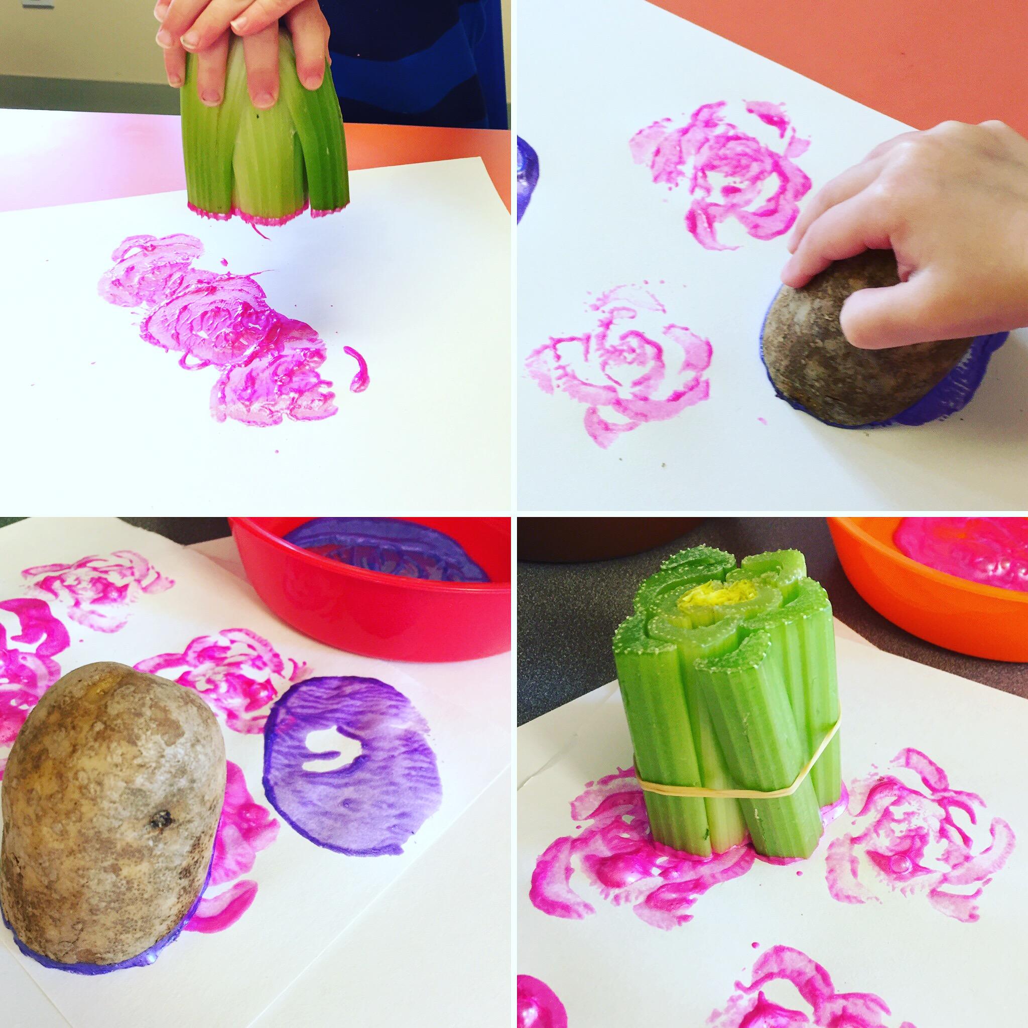 Celery Printing At Preschool