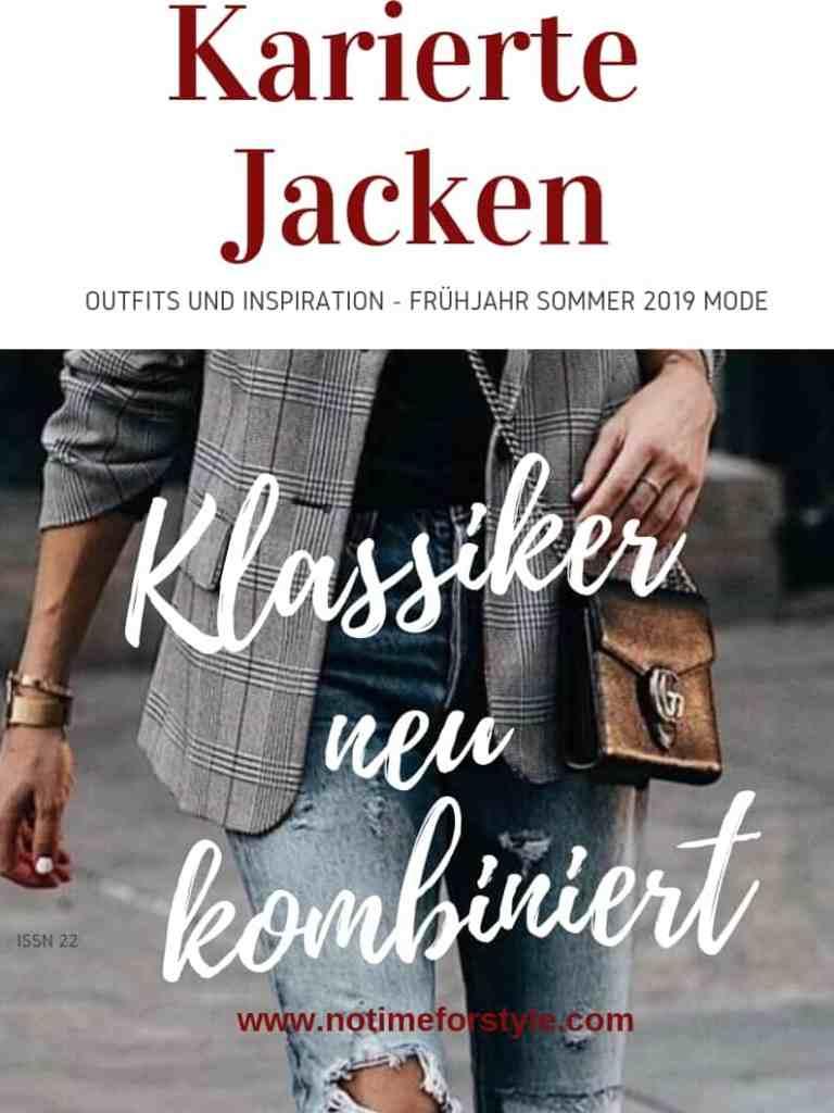 Frühling / Sommer Mode 2019: die karierte Jacke – Outfits und Inspiration