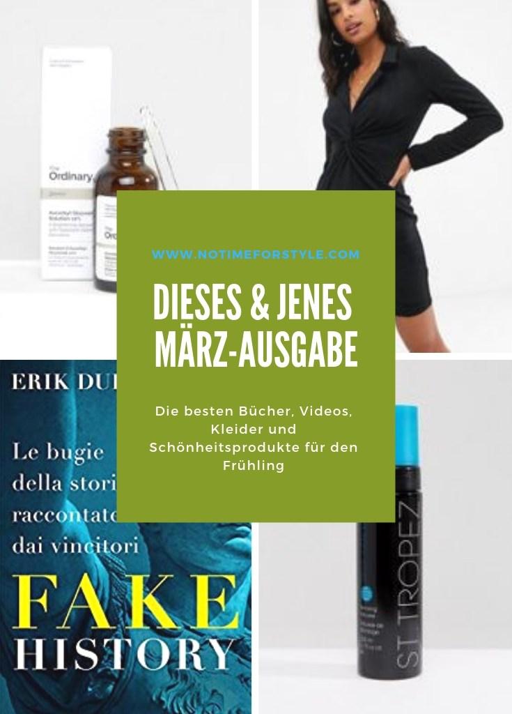 Dieses & Jenes: die besten Bücher, Videos, Kleider und Schönheitsprodukte im März